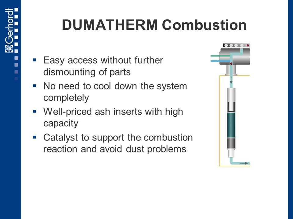 DUMATHERM Combustion Easy access without further dismounting of parts
