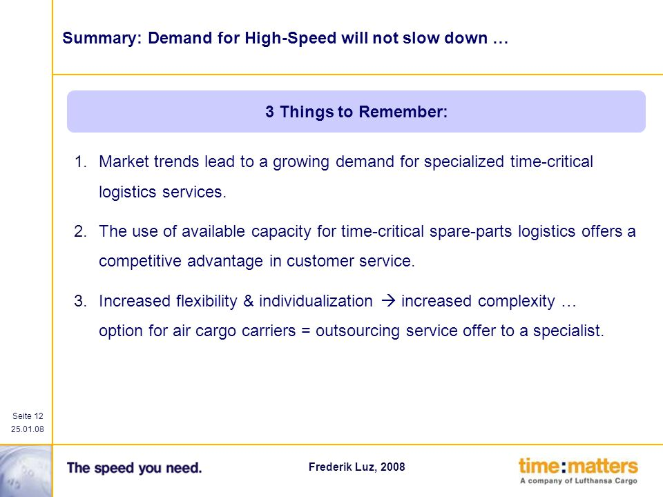 Summary: Demand for High-Speed will not slow down …