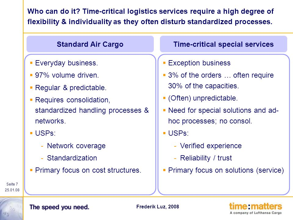 Time-critical special services