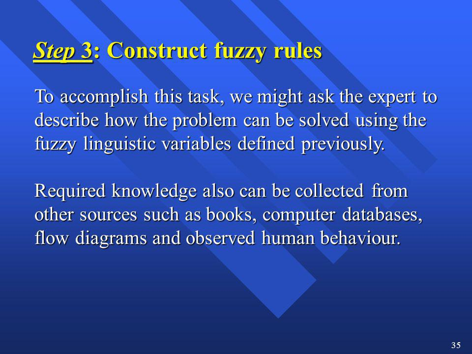 Step 3: Construct fuzzy rules