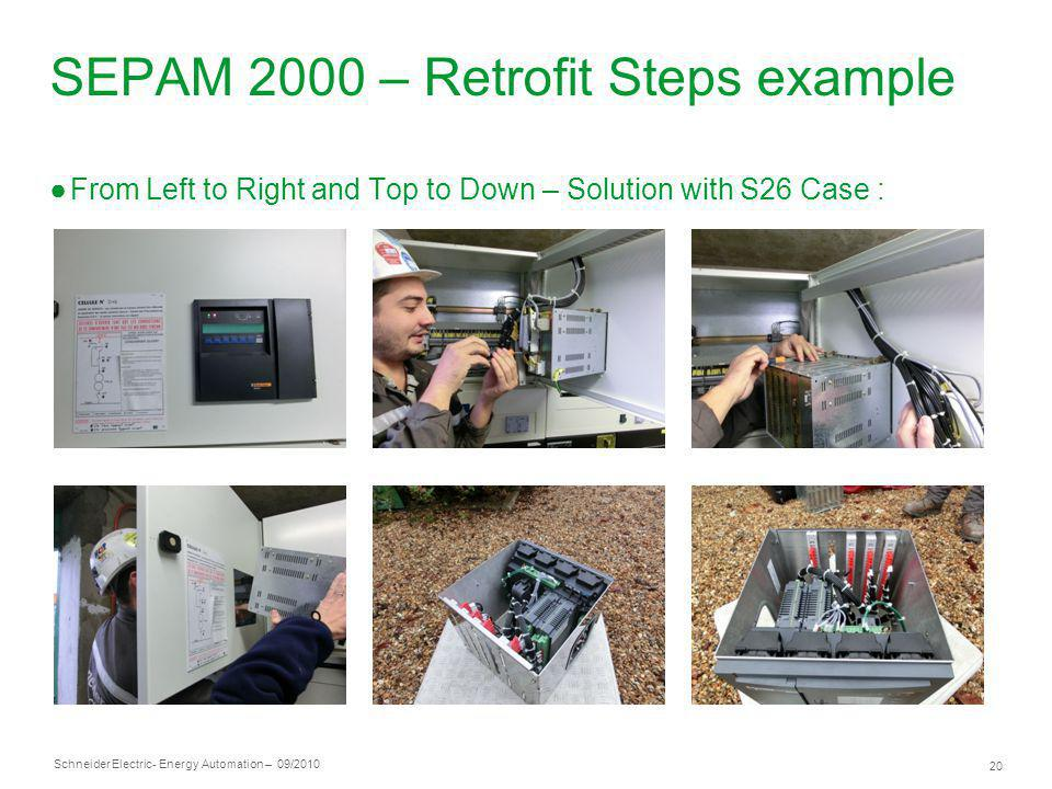 SEPAM 2000 – Retrofit Steps example