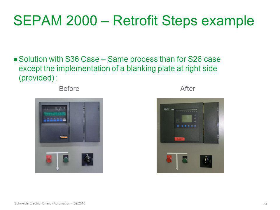 SEPAM 2000 – Retrofit Steps example