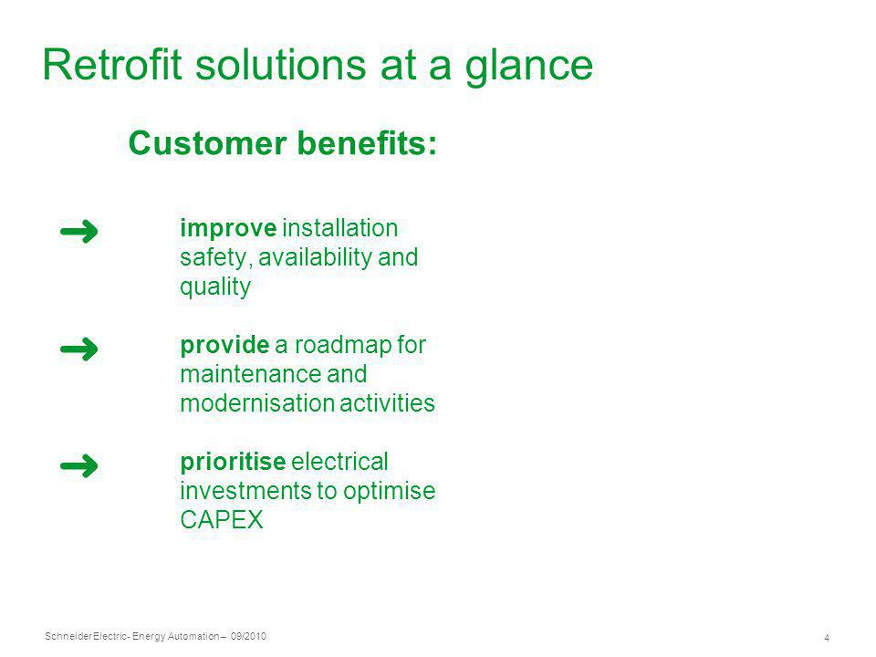 Retrofit solutions at a glance