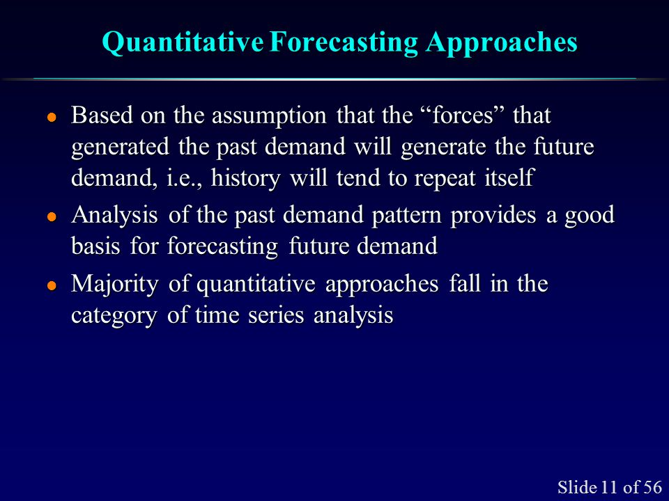 Quantitative Forecasting Applications Small and Large Firms