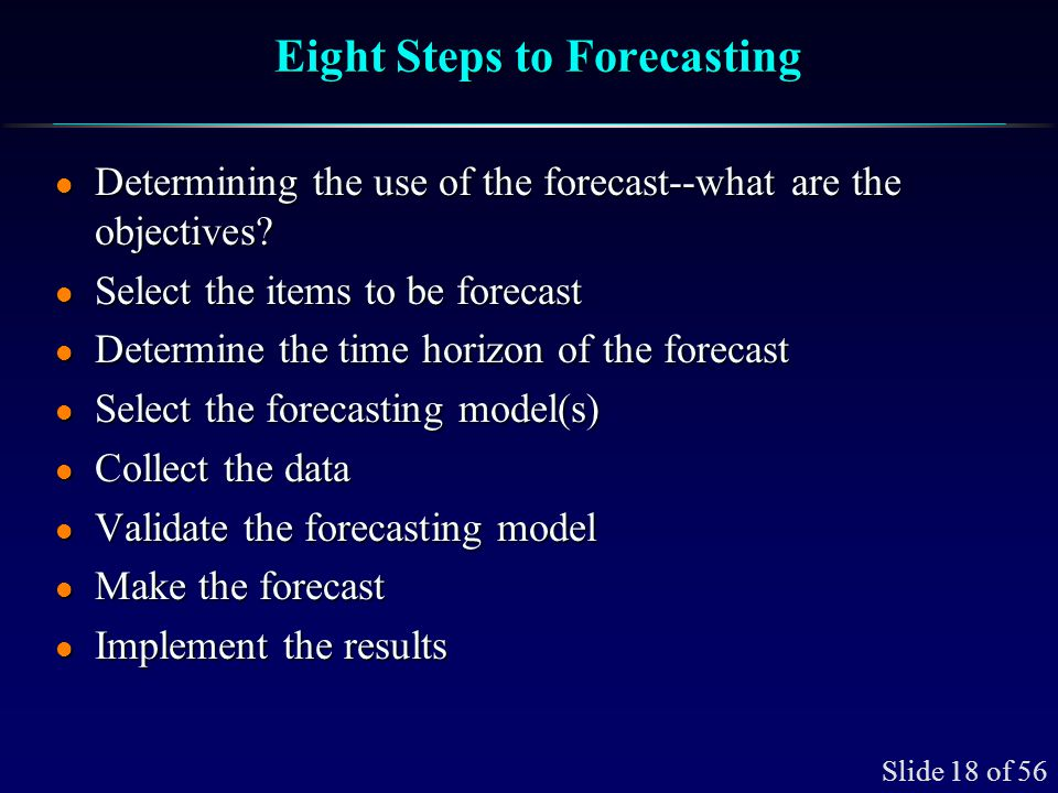 Quantitative Forecasting Approaches