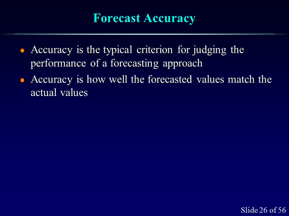Monitoring Accuracy