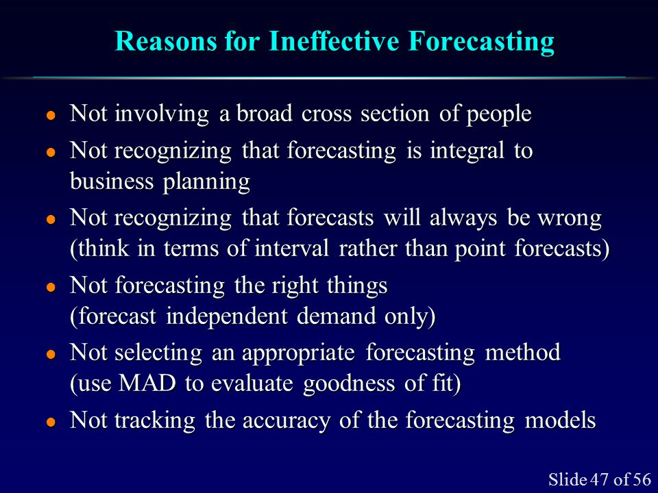 How to Monitor and Control a Forecasting Model