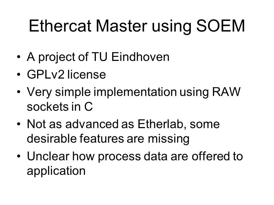 Ethercat Master using SOEM