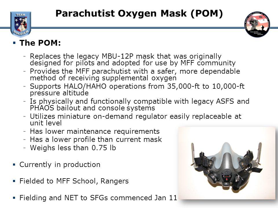 Parachutist Oxygen Mask (POM)