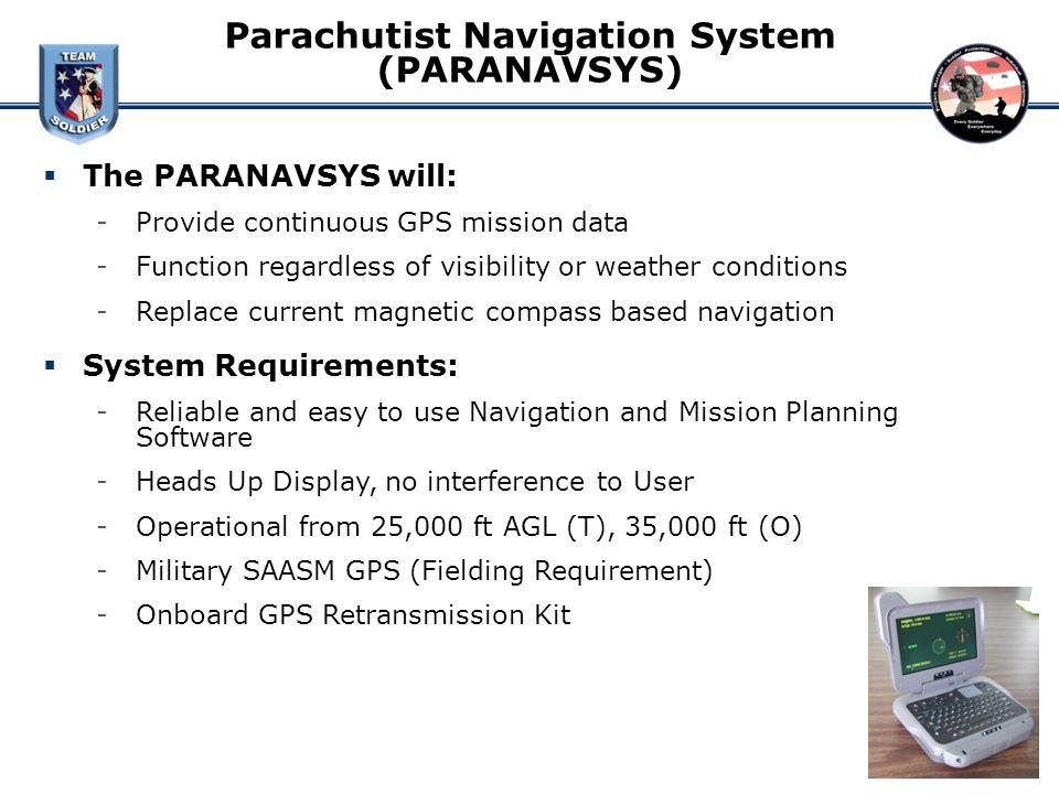 Parachutist Navigation System (PARANAVSYS)