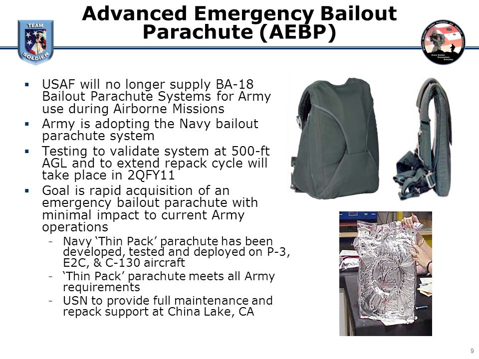 Advanced Emergency Bailout Parachute (AEBP)