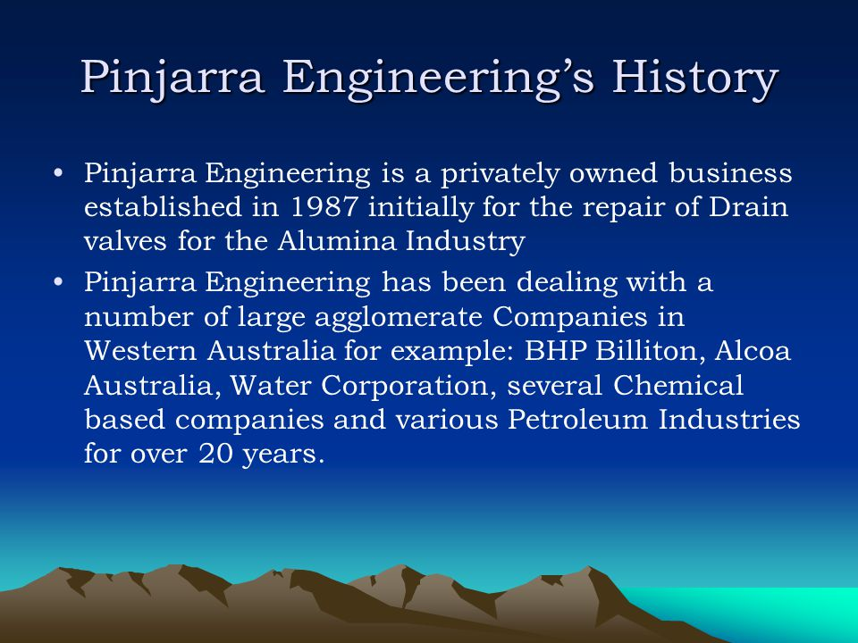Pinjarra Engineering's History