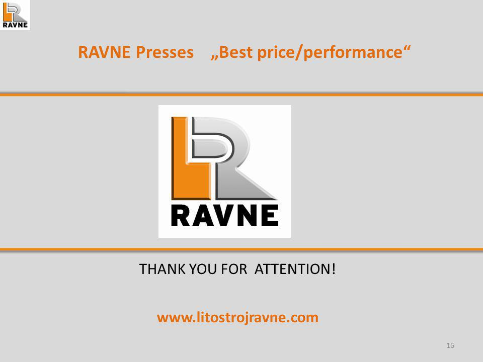 "RAVNE Presses ""Best price/performance"