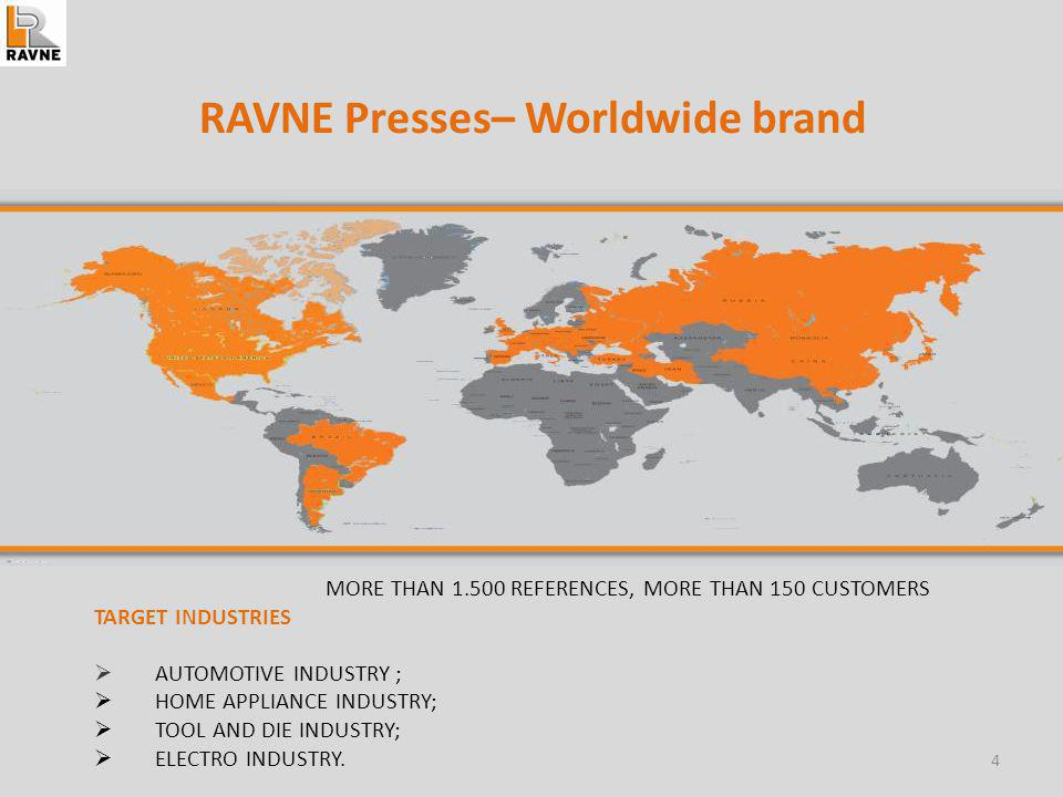 RAVNE Presses– Worldwide brand