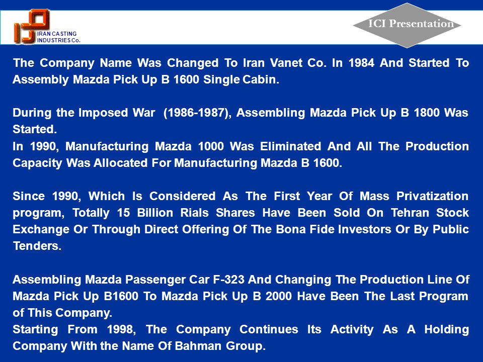 The Company Name Was Changed To Iran Vanet Co