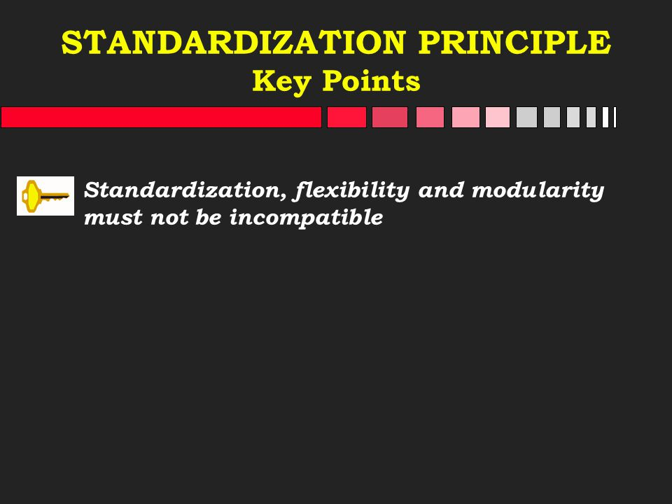 STANDARDIZATION PRINCIPLE Key Points