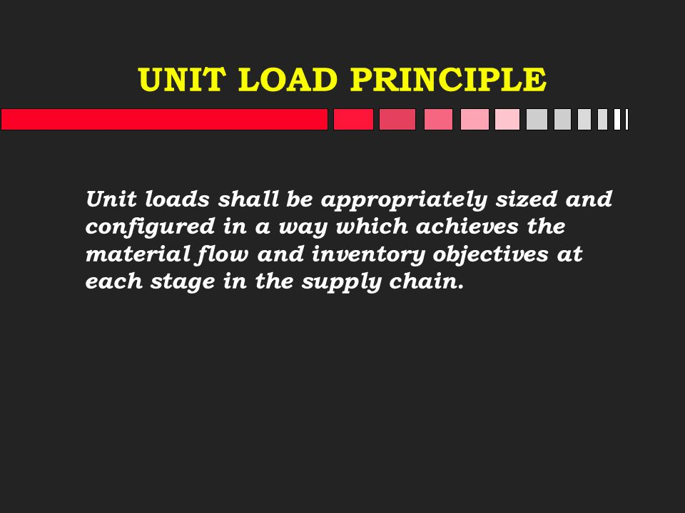 UNIT LOAD PRINCIPLE