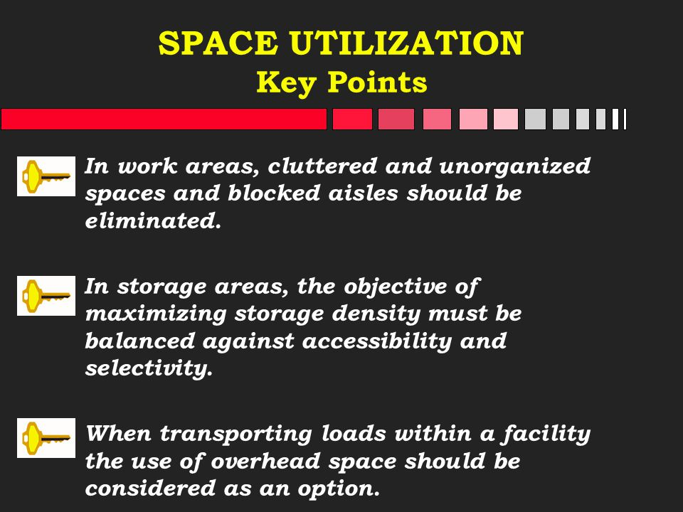 SPACE UTILIZATION Key Points