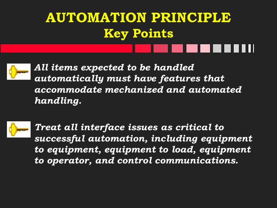 AUTOMATION PRINCIPLE Key Points