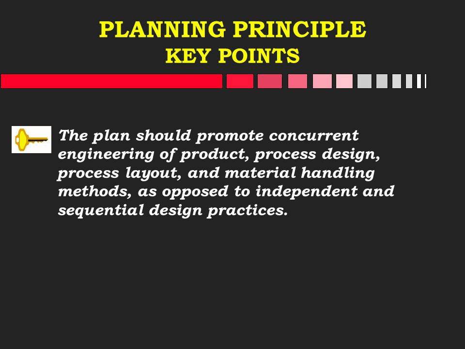 PLANNING PRINCIPLE KEY POINTS