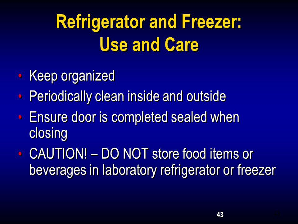 Refrigerator and Freezer: Use and Care