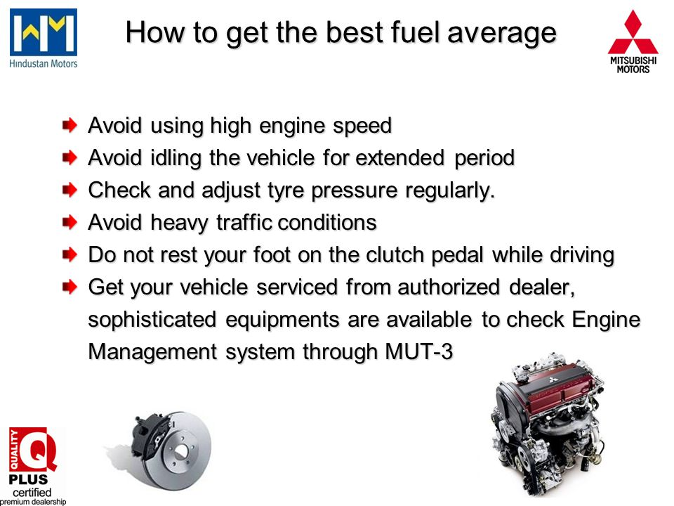 How to get the best fuel average