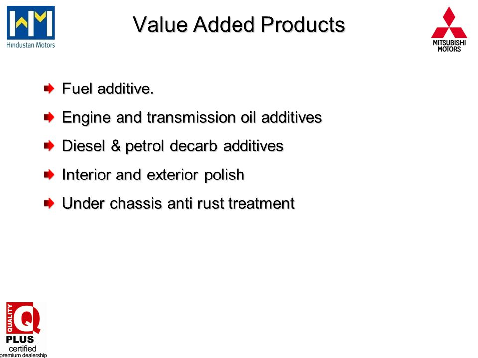 Value Added Products Fuel additive.