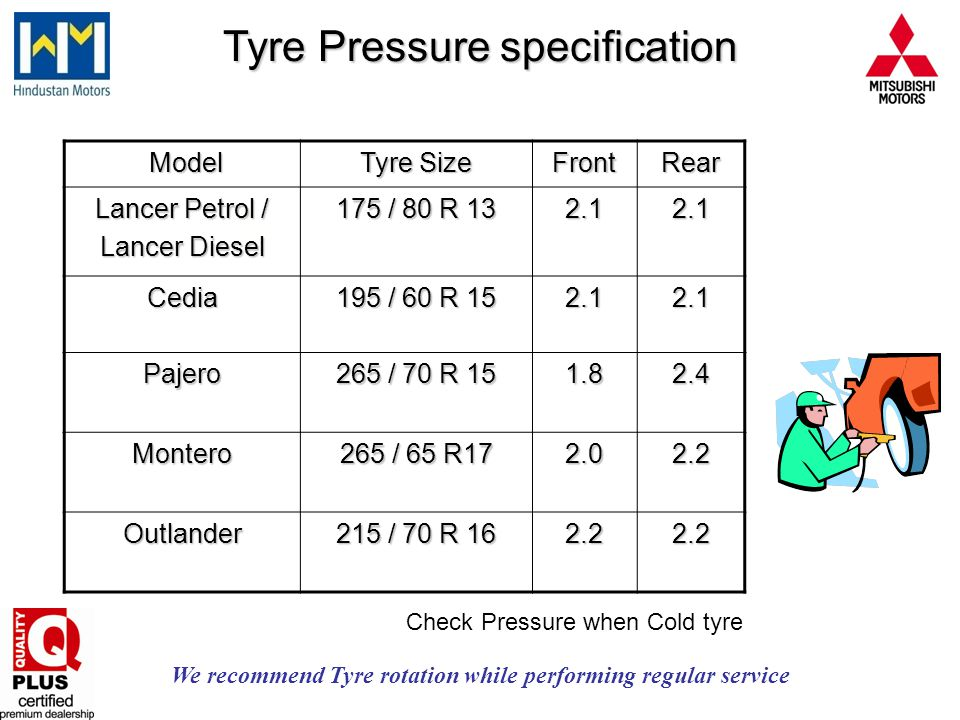 We recommend Tyre rotation while performing regular service