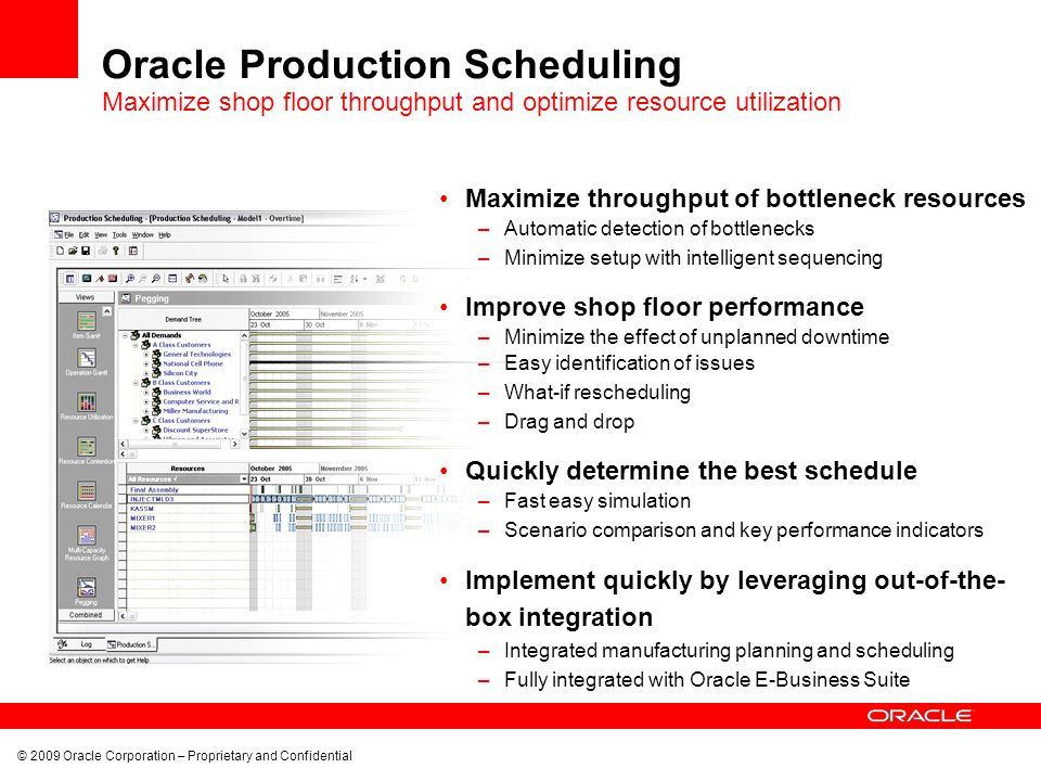 Oracle Production Scheduling