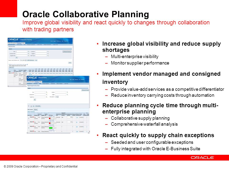 Oracle Collaborative Planning