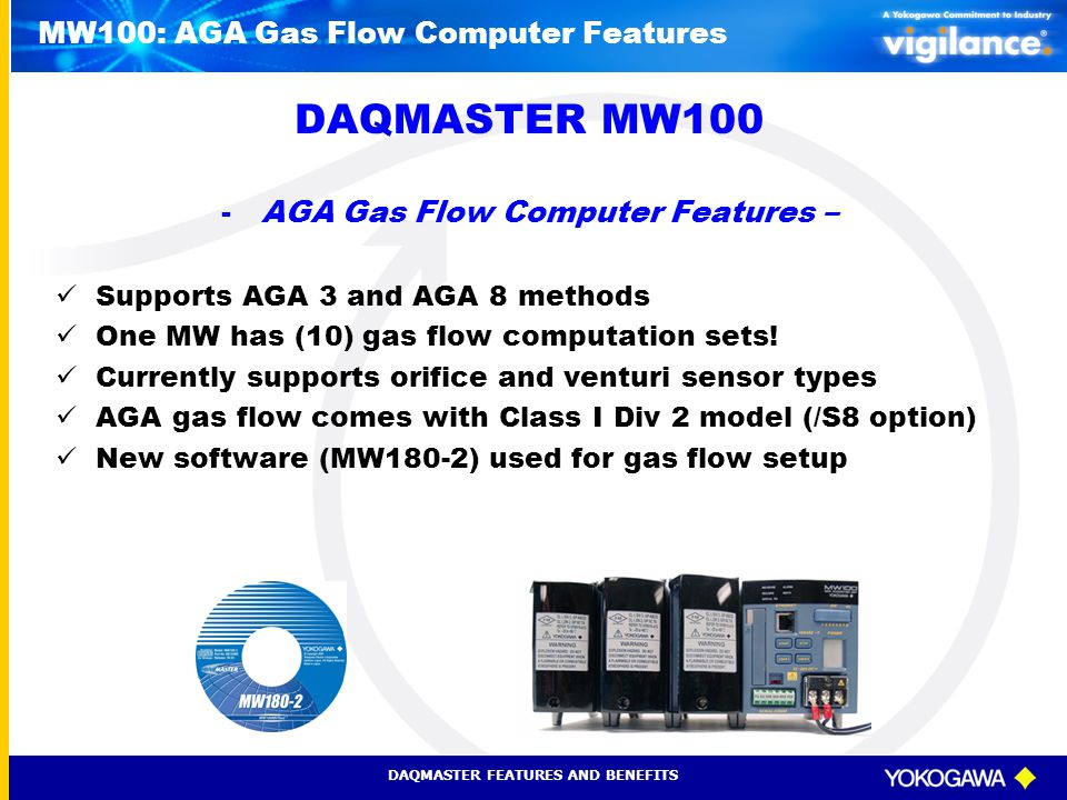 MW100: AGA Gas Flow Computer Features