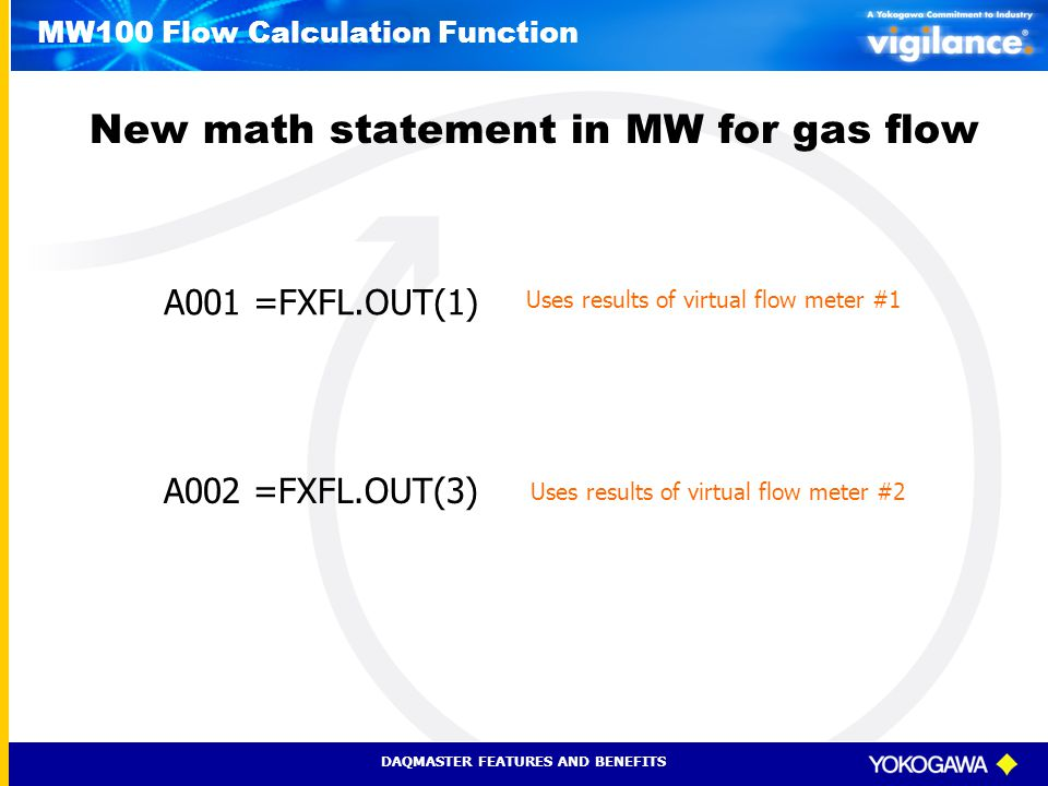 MW100 Flow Calculation Function