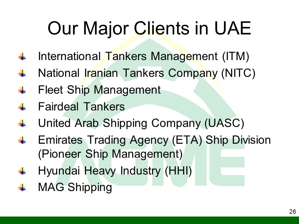 Our Major Clients in UAE
