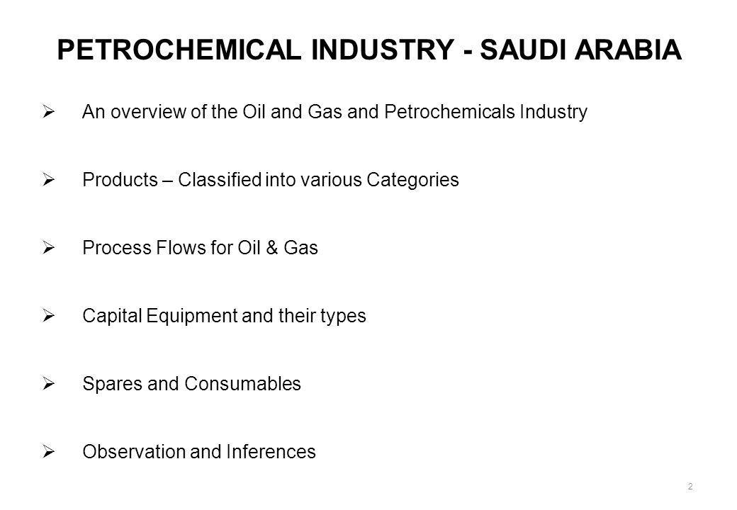 PETROCHEMICAL INDUSTRY - SAUDI ARABIA