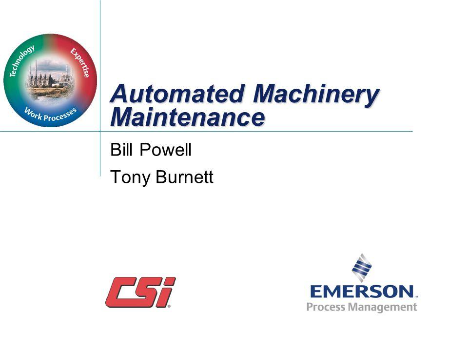 Automated Machinery Maintenance