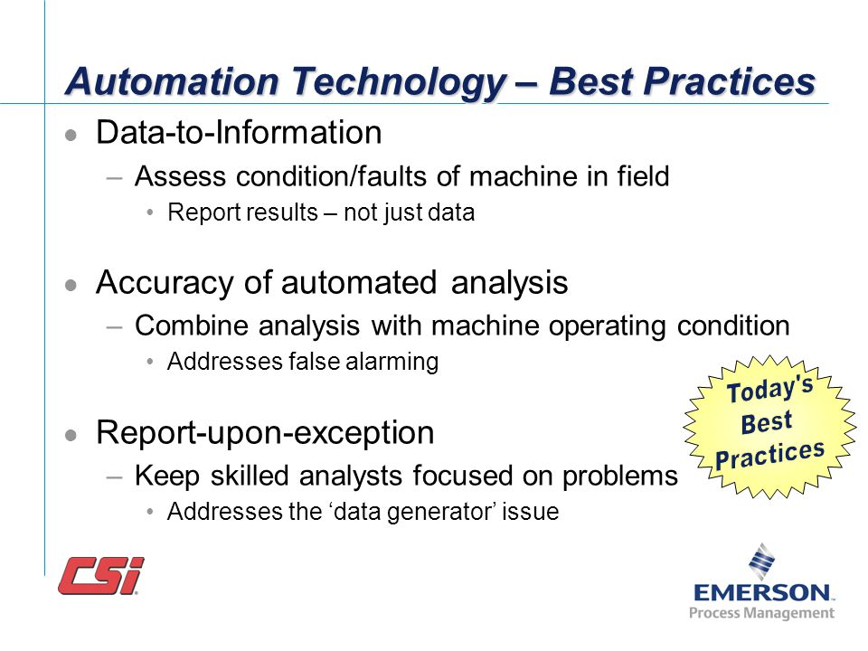 Automation Technology – Best Practices