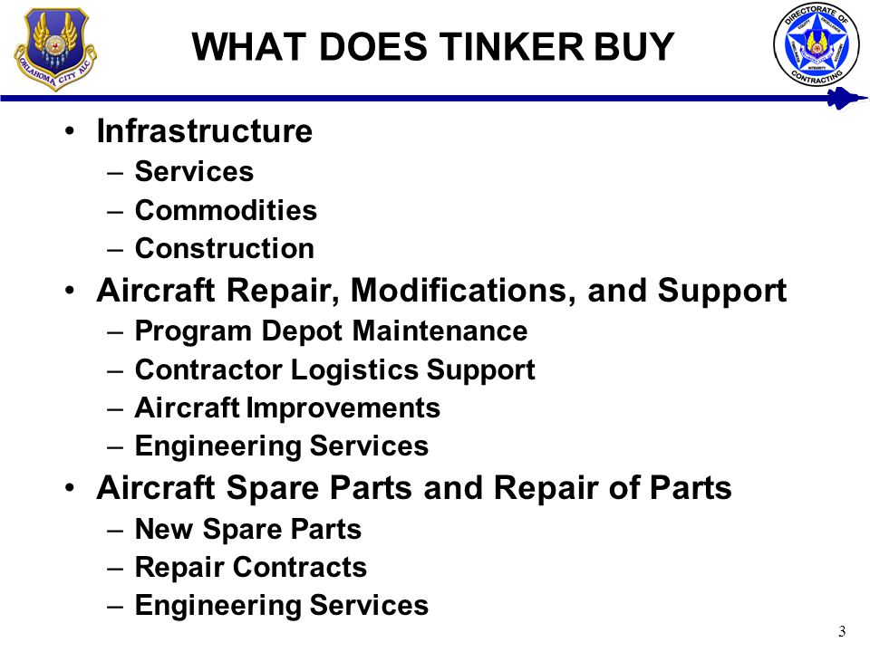 WHAT DOES TINKER BUY Infrastructure