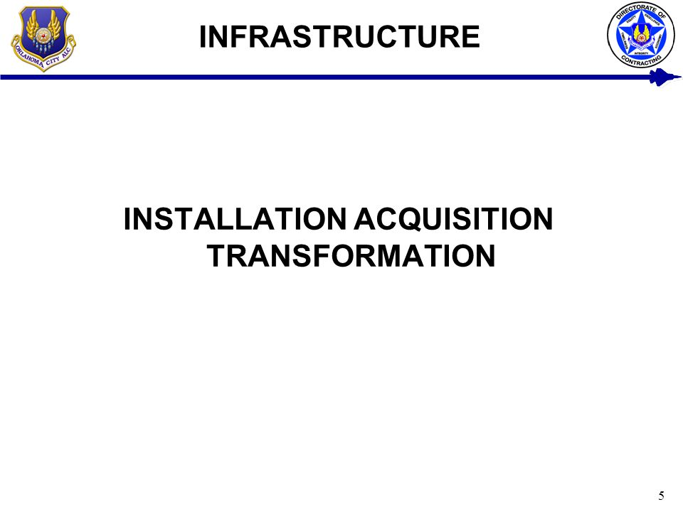 INSTALLATION ACQUISITION TRANSFORMATION