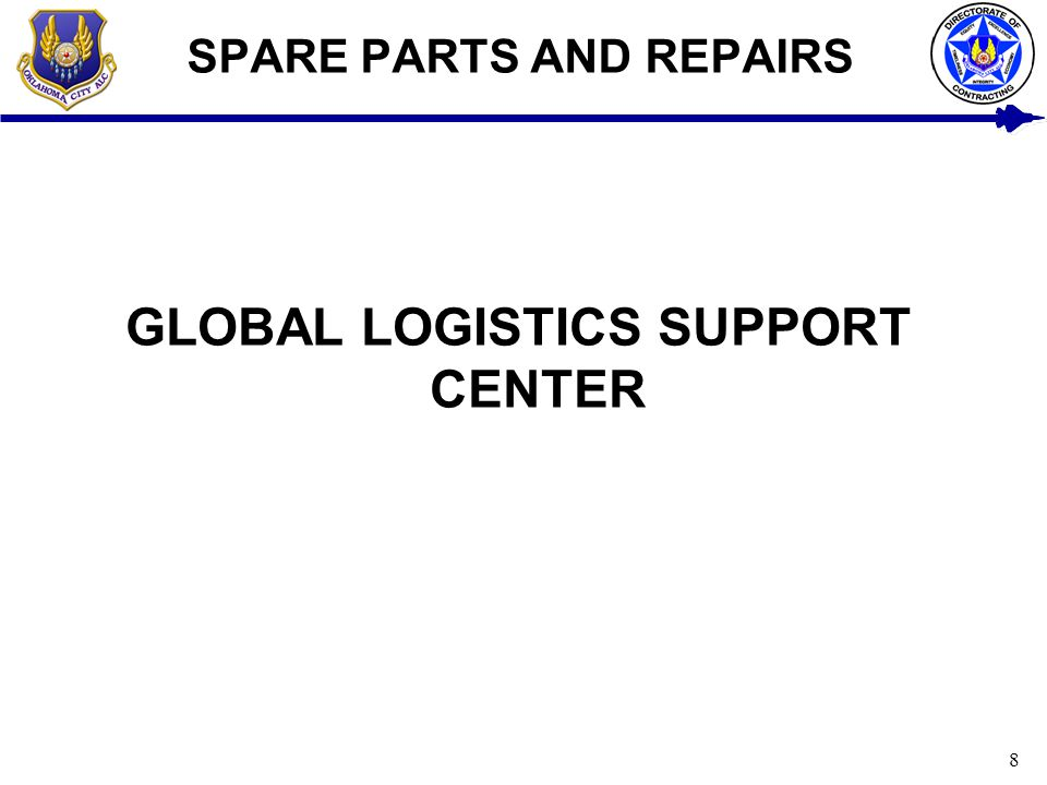 SPARE PARTS AND REPAIRS