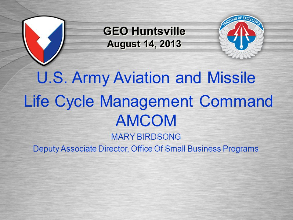 U.S. Army Aviation and Missile Life Cycle Management Command AMCOM