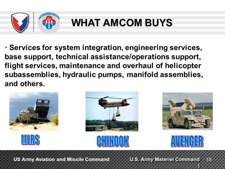 MLRS CHINOOK AVENGER WHAT AMCOM BUYS