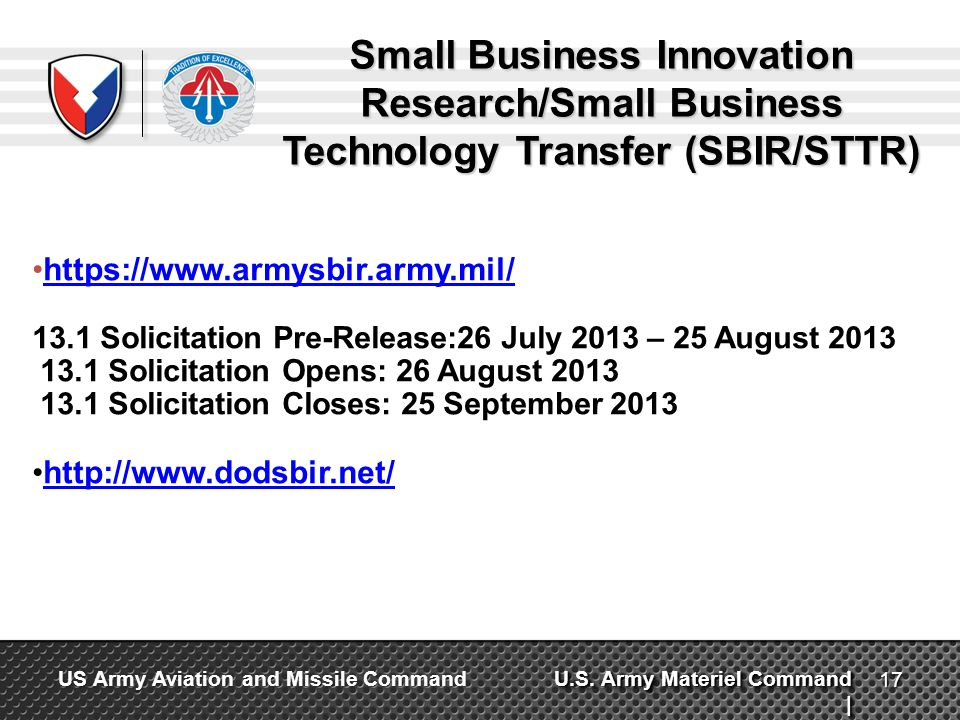 Small Business Innovation Research/Small Business Technology Transfer (SBIR/STTR)