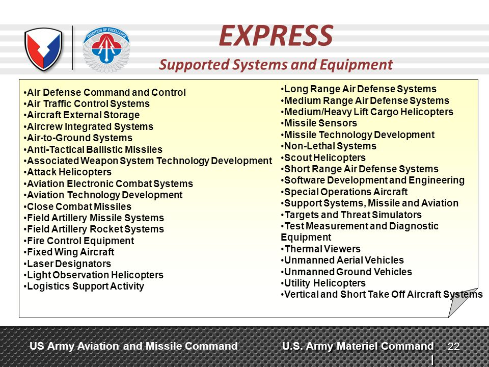 Supported Systems and Equipment