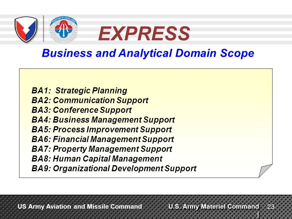 Business and Analytical Domain Scope