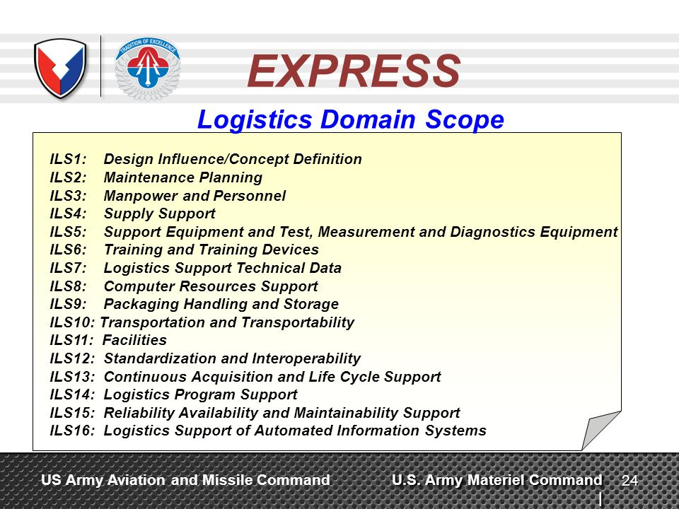 Logistics Domain Scope