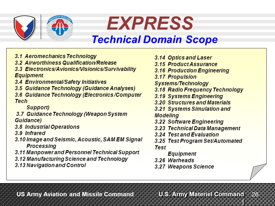 Technical Domain Scope