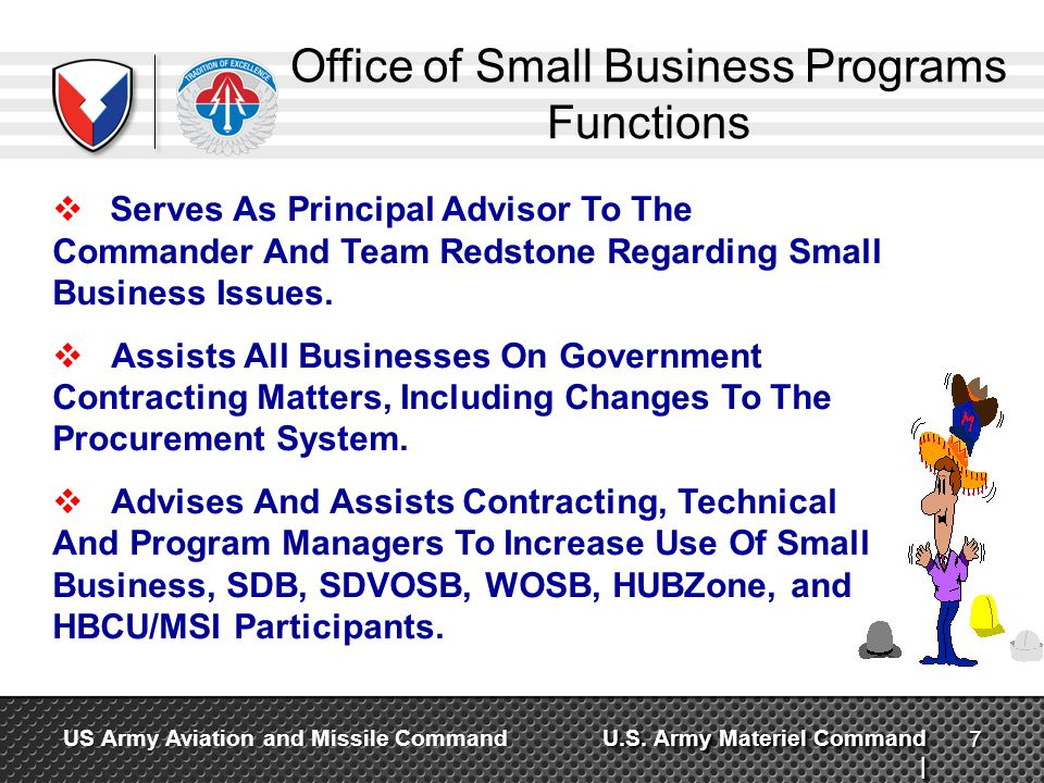 Office of Small Business Programs Functions