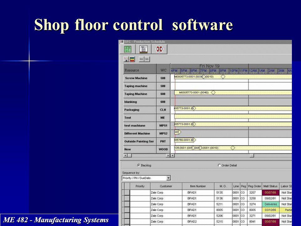 Shop floor control software