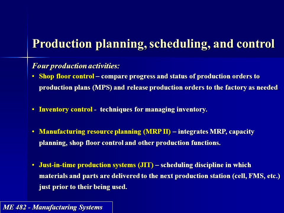 Production Planning Scheduling And Control Ppt Video