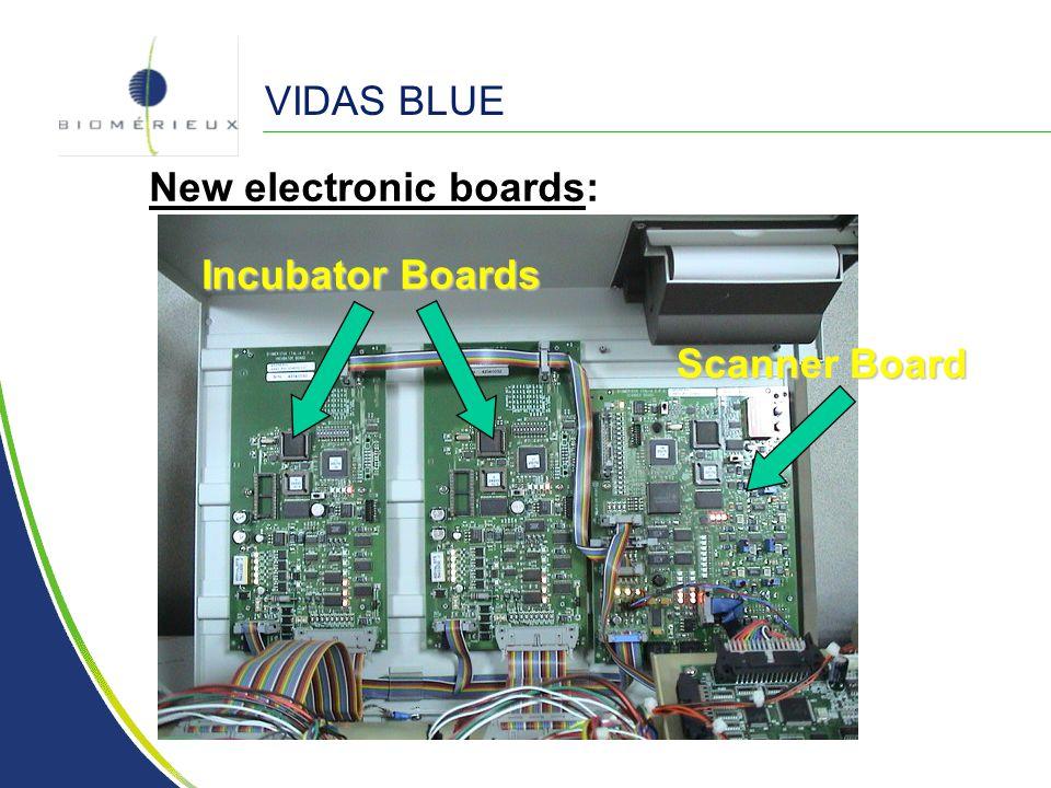 VIDAS BLUE New electronic boards: Incubator Boards Scanner Board